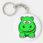 Hippo Green Keychains