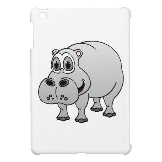 Hippo Grey Cartoon Case For The iPad Mini