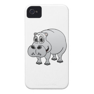 Hippo Grey Cartoon Case-Mate iPhone 4 Case
