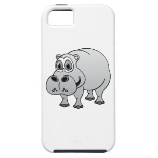 Hippo Grey Cartoon iPhone SE/5/5s Case