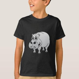 Hippo Grey Cartoon T-Shirt