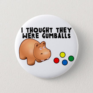 Hippo Gumballs Button