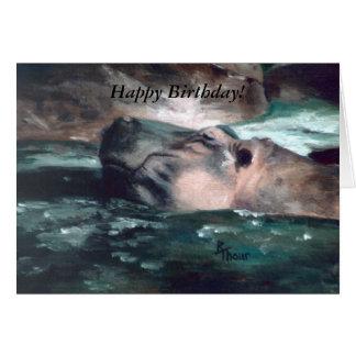 Hippo, Happy Birthday! Card
