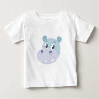Hippo Head Baby T-Shirt
