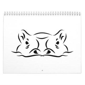 Hippo head calendars