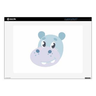 Hippo Head Laptop Decal