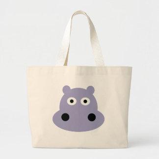 hippo head large tote bag