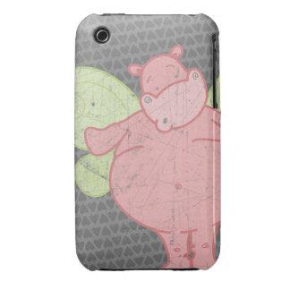 Hippo Heart Butterfly Case