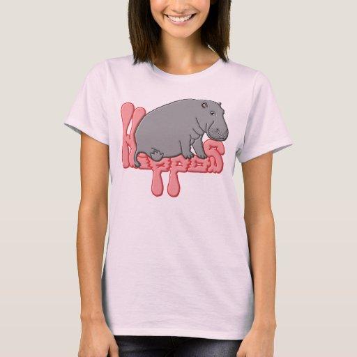 Hippo Heavy - Pink T-Shirt