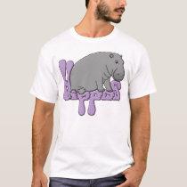 Hippo Heavy - Purple T-Shirt