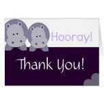 Hippo Hippo Hooray! Greeting Card
