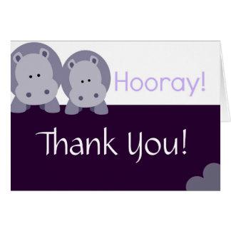 Hippo Hippo Hooray! Stationery Note Card