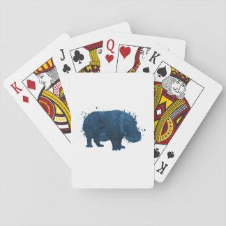 Hippo / hippopotamus playing cards