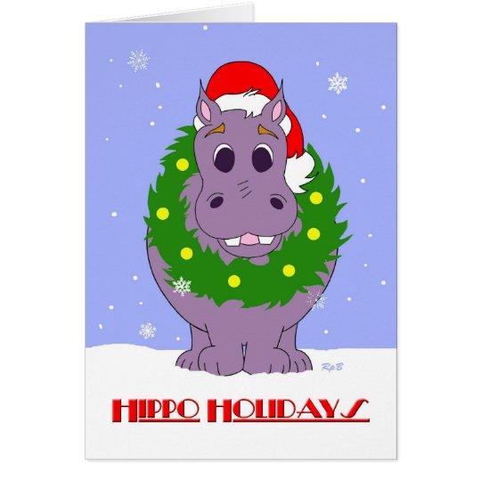 Hippo Holidays Card
