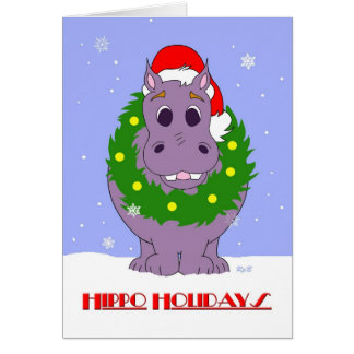 Hippo Holidays Cards