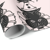 hippo in a party hat wrapping paper