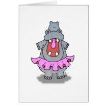 Hippo in a Tutu Card