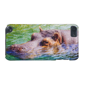 Hippo In Colorful Water, Animal Photography iPod Touch (5th Generation) Cases