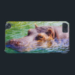 "Hippo In Colorful Water, Animal Photography iPod Touch (5th Generation) Cover<br><div class=""desc"">A hippopotamus,  hippo in colorful water. Animal photography,  the beast is swimming.</div>"