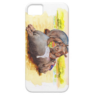 Hippo in the sun iPhone SE/5/5s case