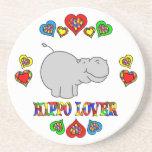 Hippo Lover Drink Coaster