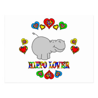 Hippo Lover Post Card
