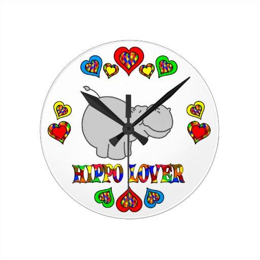Hippo Lover Wallclocks