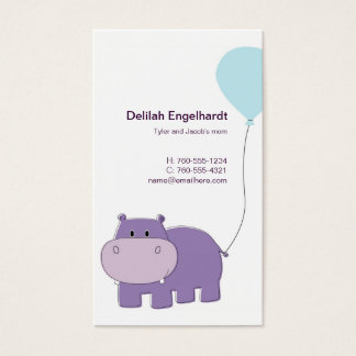 Hippo Mommy Cards / Calling Cards /
