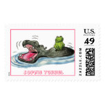 Hippo 'n Frog Stamps