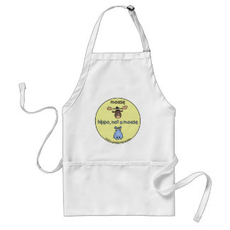 Hippo-not-a-moose! Adult Apron