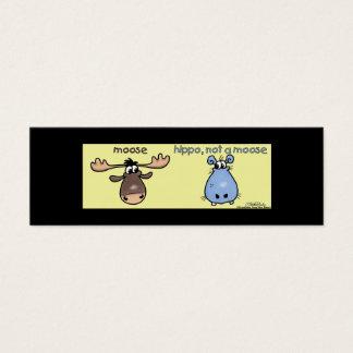 Hippo-not-a-moose! Bookmark Mini Business Card