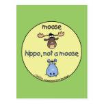 Hippo-not-a-moose! Postcard