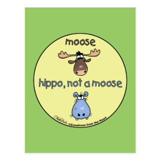 Hippo-not-a-moose! Postcard