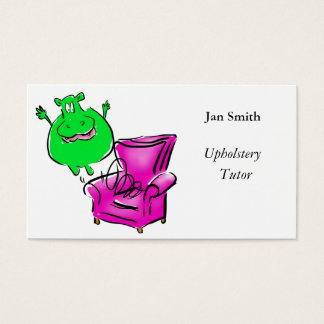 Hippo on a chair artwork customize boxes business card