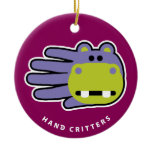 Hand shaped Hippo ornament