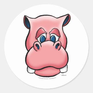 Hippo (pink) sticker