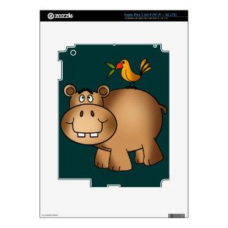 Hippo po and Birdie iPad 3 Decal