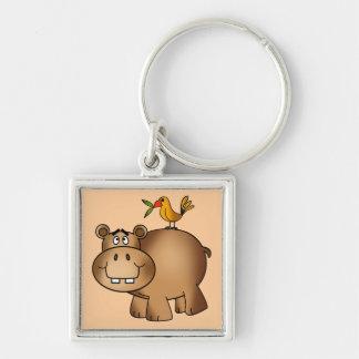 Hippo po and Birdie Keychain