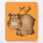 Hippo po and Birdie Mouse Pad