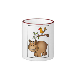 Hippo po and Birdie Coffee Mugs