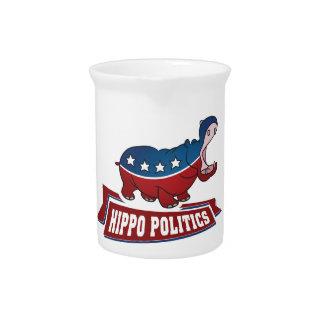Hippo Politics Drink Pitcher