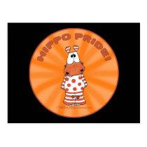 Hippo Pride Starburst Postcard