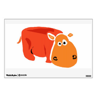 Hippo Primitive Art Wall Decal