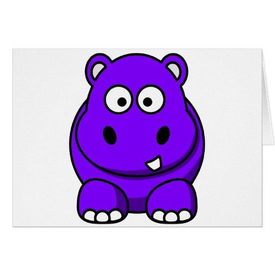 Hippo Purple Card