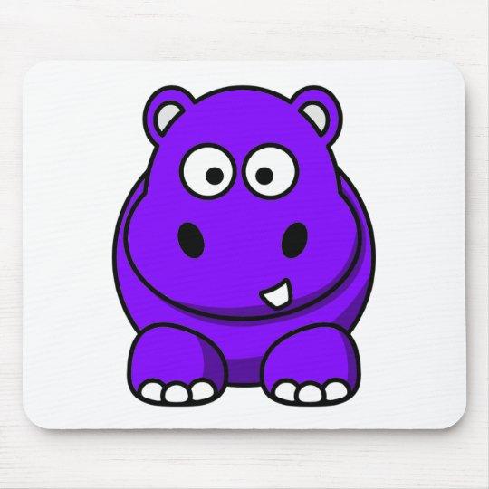 Hippo Purple Mouse Pad