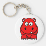 Hippo Red Keychain