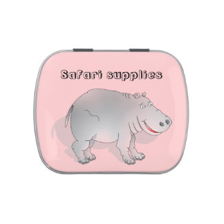 Hippo, SAFARI SUPPLIES Jelly Belly Tin