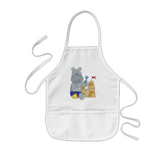 Hippo Sand Castle T-shirts and Gifts Kids' Apron