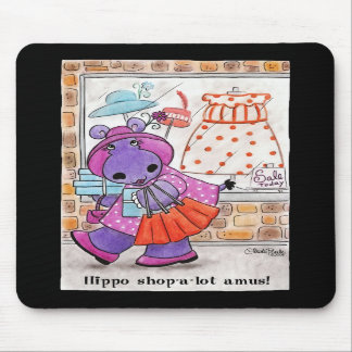 Hippo Shopping-Hippo shop-a-lot amus! Mouse Pad