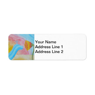 Hippo-Snail Avery Return Address Label